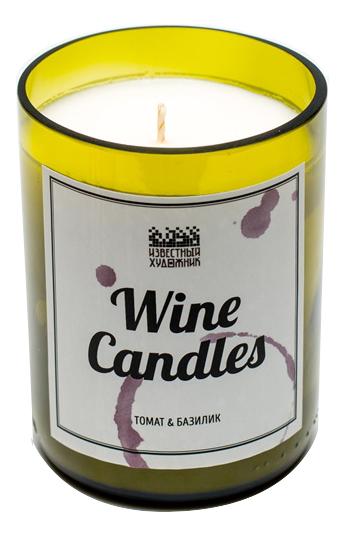 Фото - Ароматическая свеча Wine Candles 250г (томат и базилик) ароматическая свеча какао и табак свеча 250г