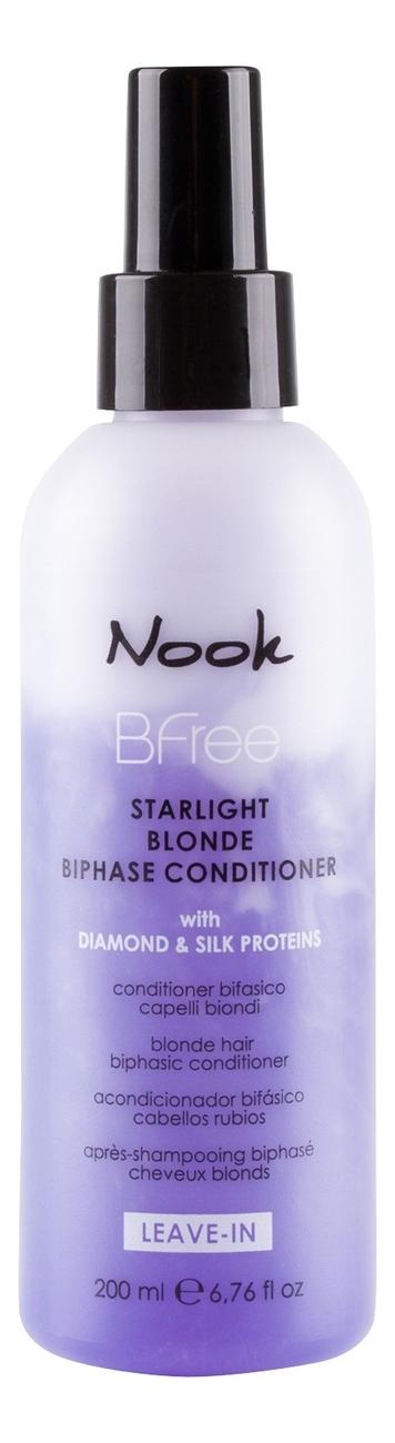 Купить Двухфазный кондиционер для волос цвета Блонд BFree Starlight Blonde Biphase Conditioner 200мл, Nook