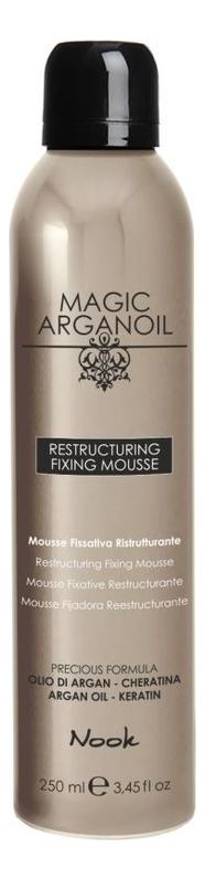 Купить Мусс для укладки волос средней фиксации Магия арганы Magic Arganoil Restructuring Fixing Mousse 250мл, Nook