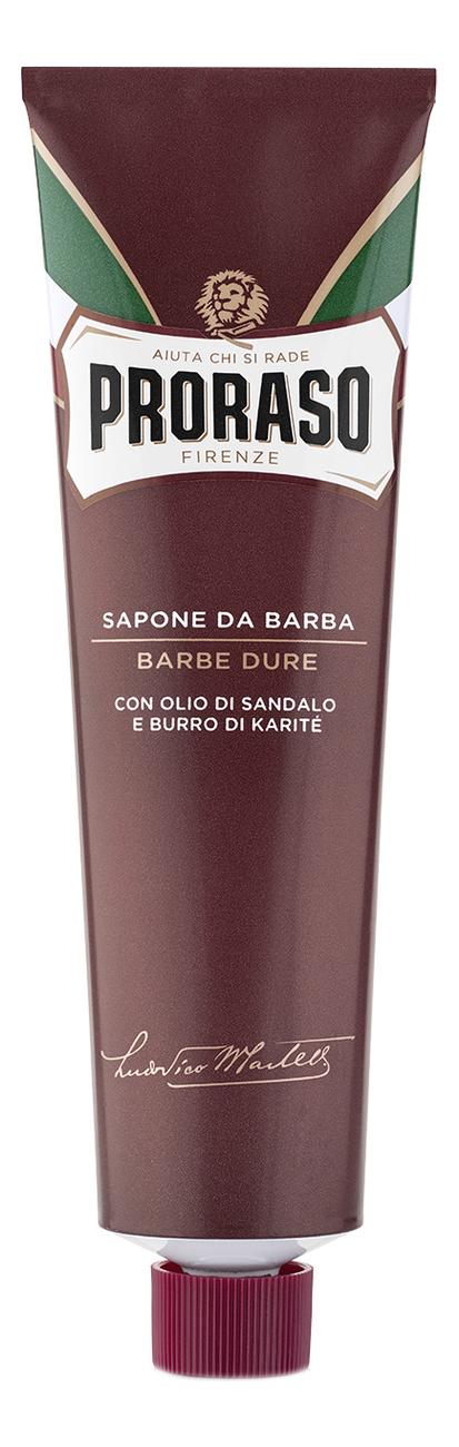 Крем для бритья Сандал Sapone Da Barba Barbe Dure 150мл фото