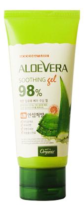 Успокаивающий гель с натуральным соком алоэ вера Aloe Vera Soothing Gel 98%: Гель 100г