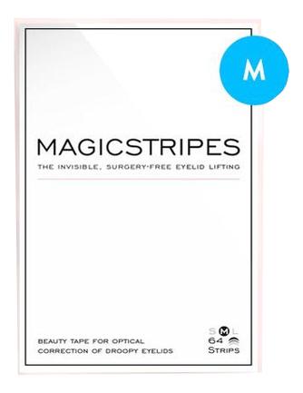 Силиконовые полоски для поднятия верхнего века The Invisible Surgery-Free Eyelid Lifting: Размер M 64шт, Magicstripes  - Купить