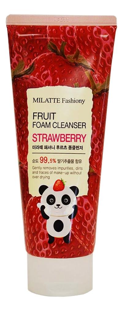 Пенка для умывания с экстрактом клубники Fashiony Fruit Foam Cleanser Strawberry 150мл недорого