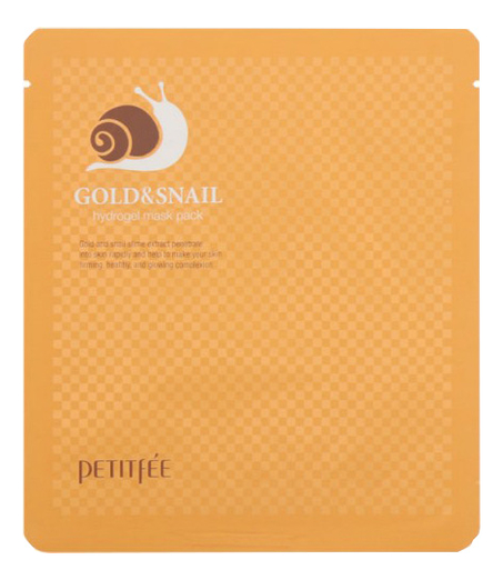 Гидрогелевая маска для лица с золотом и муцином улитки Gold & Snail Hydrogel Mask Pack: Маска 30г farmstay маска пленка 24k gold snail peel off pack с золотом и муцином улитки 100г