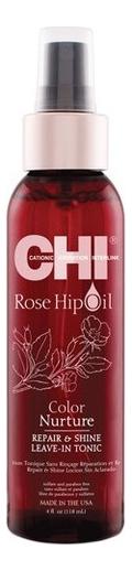 Купить Тоник для волос с маслом лепестков роз Rose Hip Oil Color Nurture Repair & Shine Hair Tonic, Тоник для волос с маслом лепестков роз Rose Hip Oil Color Nurture Repair & Shine Hair Tonic, CHI