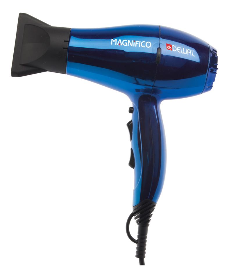 цена на Фен для волос Magnifico 03-007 2000W (2 насадки, синий)