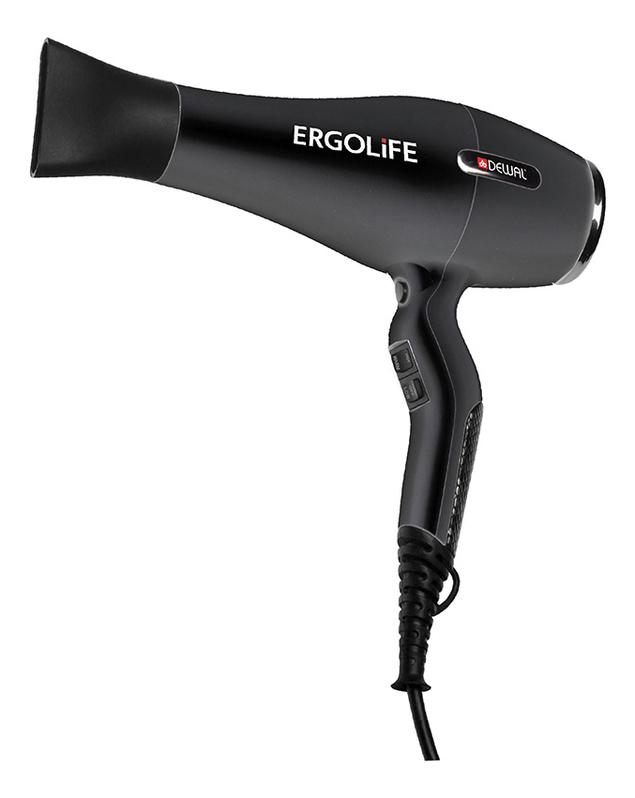 цена на Фен для волос ErgoLife 03-001 2200W (2 насадки, черный)