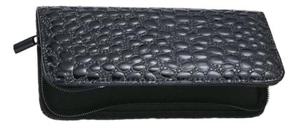 Футляр для хранения 2 ножниц (крокодиловый черный)