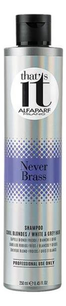 Шампунь тонирующий в холодные оттенки цвета блонд для светлых и седых волос Thats It Never Brass Shampoo 250мл