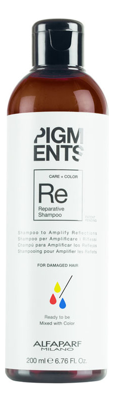 Шампунь для поврежденных волос Pigments Reparative Shampoo 200мл
