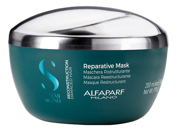 Фото - Маска для поврежденных волос Semi Di Lino Reconstruction Reparative Mask 200мл: Маска 200мл маска для волос восстанавливающая bio traitement reconstruction mask 200мл