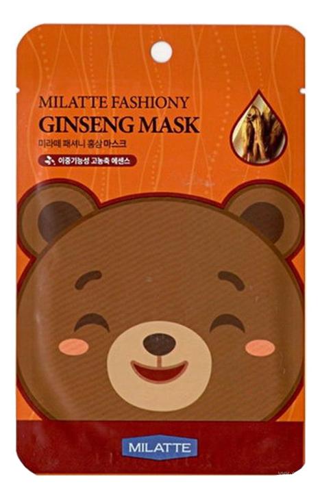 Фото - Маска тканевая для лица с экстрактом красного женьшеня Fashiony Ginseng Mask Sheet 21г маска на тканевой основе для лица с экстрактом красного женьшеня milatte fashiony ginseng mask sheet