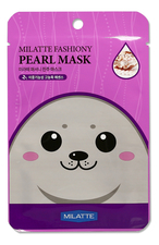 Milatte Маска тканевая для лица с экстрактом жемчуга Fashiony Pearl Mask Sheet 21г