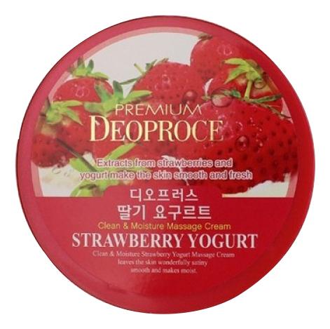 Крем массажный с экстрактом клубники Premium Clean & Moisture Strawberry Yogurt Massage Cream 300г