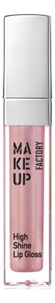 Купить Блеск для губ с эффектом влажных губ High Shine Lip Gloss 6, 5мл: 45 Iridescent Rose, MAKE UP FACTORY