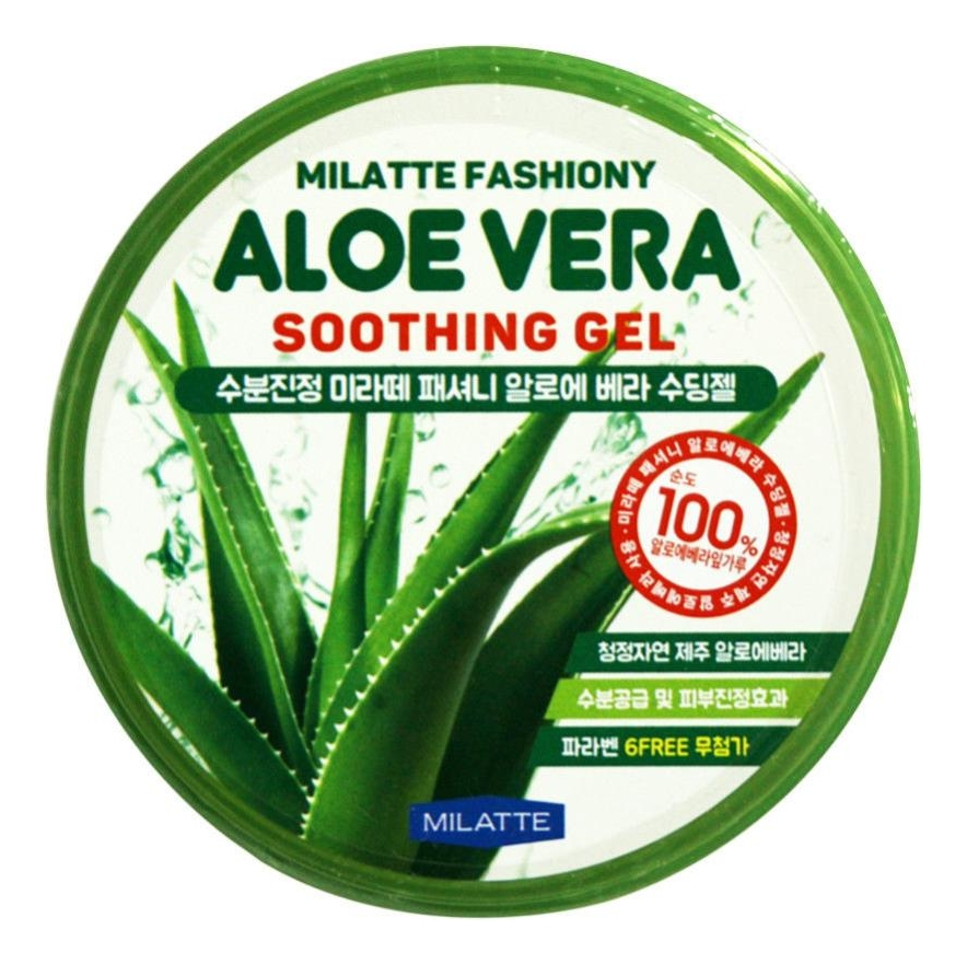 Купить Гель для лица и тела увлажняющий с алоэ Fashiony Aloe Vera Soothing Gel 300мл, Milatte