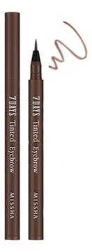 Купить Гелевый тинт для бровей 7days Tinted Eyebrow 0, 8мл: Sinopia Brown, Missha
