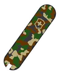 Накладка на ручку перочинного ножа Classic SD 0.6223.94 58мм (передняя, зеленый камуфляж) накладка на ручку перочинного ножа 85мм передняя желто черная