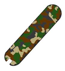 Накладка на ручку перочинного ножа Classic SD 0.6223.94 58мм (задняя, зеленый камуфляж) задняя накладка для ножа victorinox 8 4 см красный