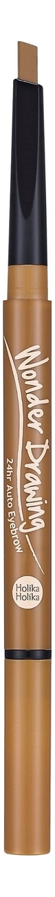 Купить Карандаш для бровей Wonder Drawing 24hr Auto Eyebrow 0, 4г: 03 Light Brown, Holika Holika