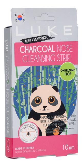 Фото - Очищающие полоски против черных точек Charcoal Nose Cleansing Strip 10шт пластыри от черных точек mj care 3 step koala nose clear solution 7г