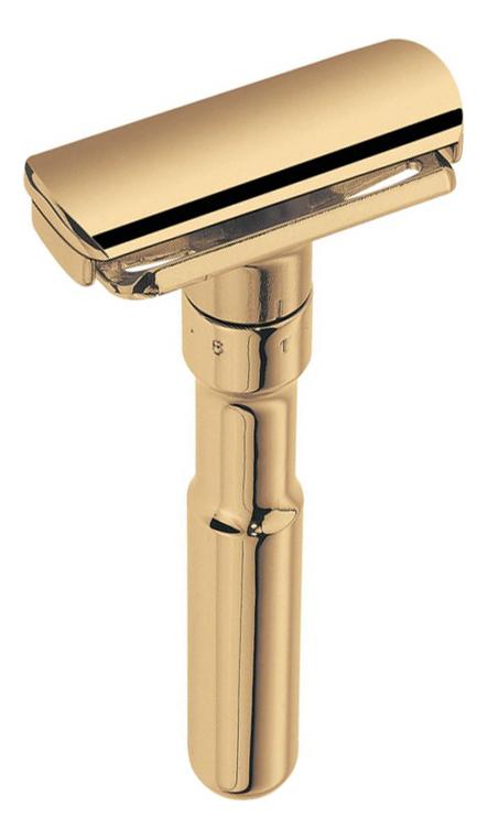 Станок Т-образный Merkur Futur (безопасная бритва с закрытым гребнем) золотистый