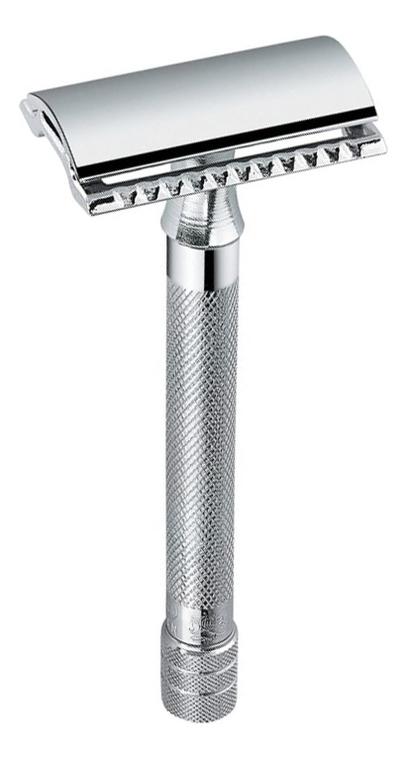 Станок Т-образный Merkur (безопасная бритва с закрытым гребнем и удлиненной ручкой + лезвие)