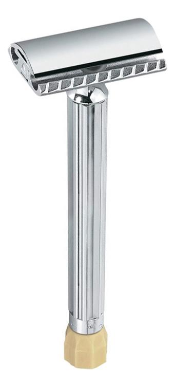 Станок Т-образный Merkur (безопасная бритва с удлиненной ручкой и регулировкой угла наклона + лезвие)