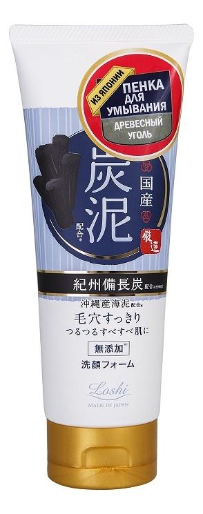 Купить Очищающая пенка для умывания с древесным углем Loshi Charcoal Facial Foam 120г, Roland