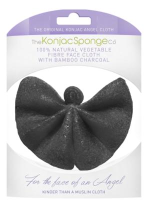 Купить Спонж для лица и тела в виде ангела c древесным углем Angel Cloth Bamboo Charcoal, The Konjac Sponge Company