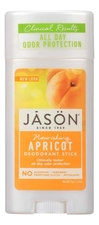 Jason Дезодорант-стик с маслом абрикоса Nourishing Apricot Pure Natural Deodorant Stick 71г