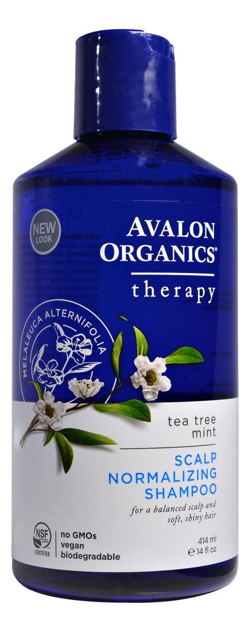 Шампунь нормализующий с маслом чайного дерева и мяты Therapy Tea Tree Mint Scalp Normalizing Shampoo 414мл