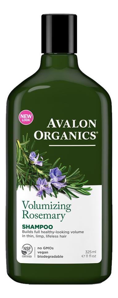 Купить Шампунь для объема волос с маслом розмарина Volumizing Rosemary Shampoo 325мл, Avalon Organics