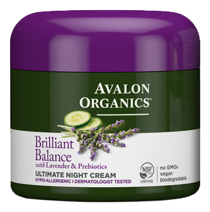 Крем ночной восстанавливающий с лавандой Brilliant Balance Lavender & Prebiotics Ultimate Night Cream 57мл