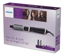 PHILIPS Фен-щетка для волос Essential Care HP8661/00 800W (2 насадки)