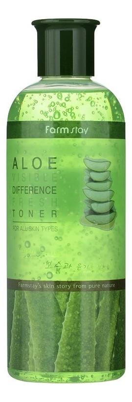 Купить Тонер для лица с экстрактом алоэ Aloe Visible Difference Fresh Toner 350мл, Farm Stay