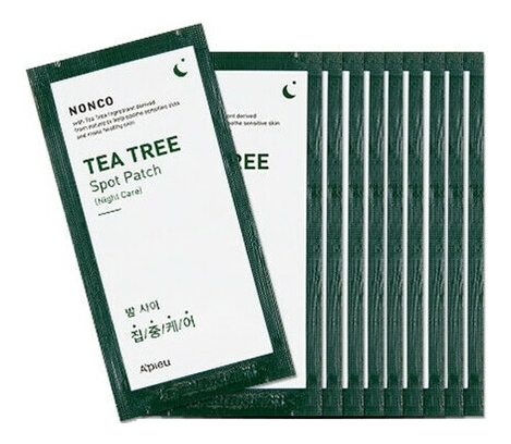 Точечные патчи против акне NonCo Tea Tree Spot Patch Night Care 10шт акне vprove a cleanew spot clear patch