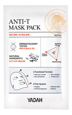 YADAH Маска для проблемной кожи лица Anti-T Mask Pack 20г