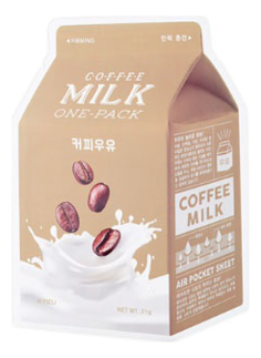 Маска для лица с экстрактом кофейных зерен Coffee Milk One-Pack 21г