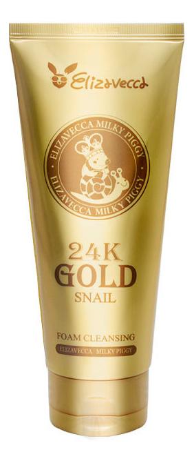 Пенка для умывания на основе золота и улиточного муцина 24K Gold Snail Foam Cleansing 180мл фото