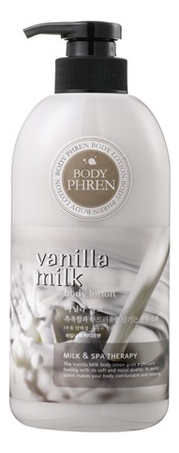 Лосьон для тела Body Phren Body Lotion Vanilla Milk 500мл лосьон для тела увлажняющий wellbeing 500мл deoproce body