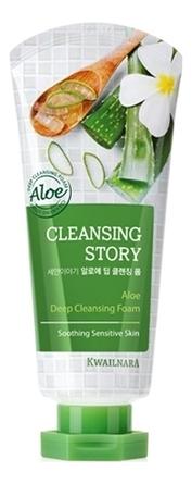 Купить Пенка для умывания Cleansing Story Foam Cleansing Aloe 120г, Welcos