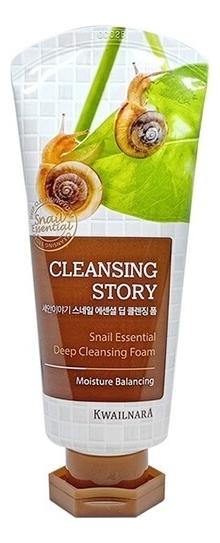 Купить Пенка для умывания Cleansing Story Snail Essential Deep Cleansing Foam 120г, Welcos