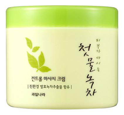 Купить Массажный крем для лица Green Tea Control Massage Cream 300г, Welcos