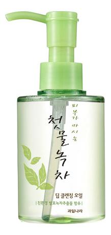 Купить Очищающее масло для лица Green Tea Deep Cleansing Oil 170мл, Welcos