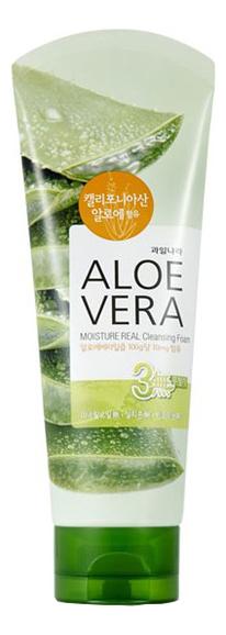 Купить Успокаивающая пенка для умывания с алоэ Kwailnara Aloe Vera Moisture Real Cleansing Foam 150мл, Welcos