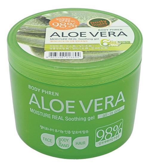 Гель для тела успокаивающий Body Phren Aloe Vera Moisture Real Soothing Gel 500г: Гель 500г