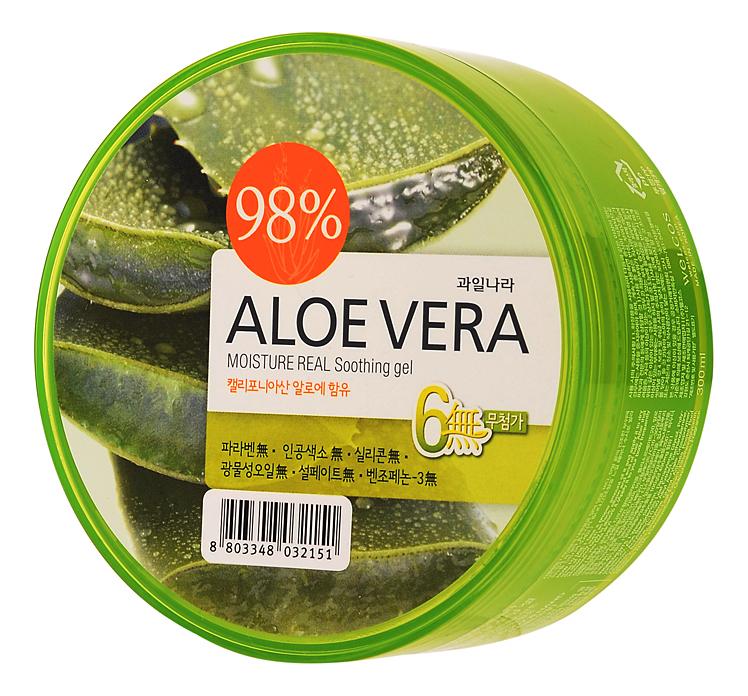 Гель для тела успокаивающий Body Phren Aloe Vera Moisture Real Soothing Gel 300г: Гель 300г