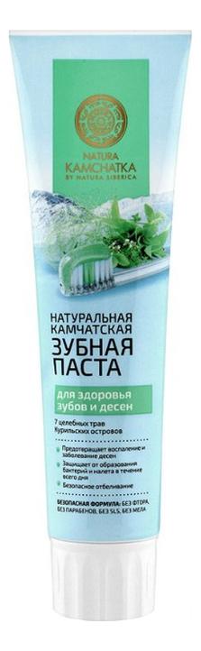 Паста зубная камчатская для здоровья зубов и десен Natura Kamchatka 100мл зубная паста natura siberica для чувствительных зубов 100 мл
