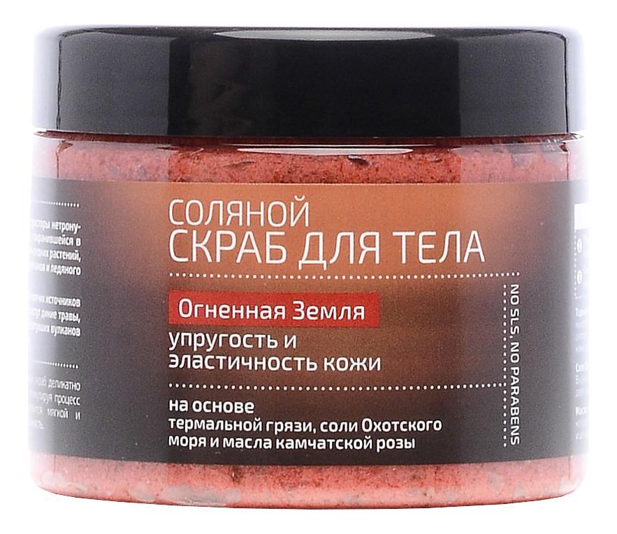 Купить Скраб соляной для тела Огненная земля Natura Kamchatka 300мл, Natura Siberica